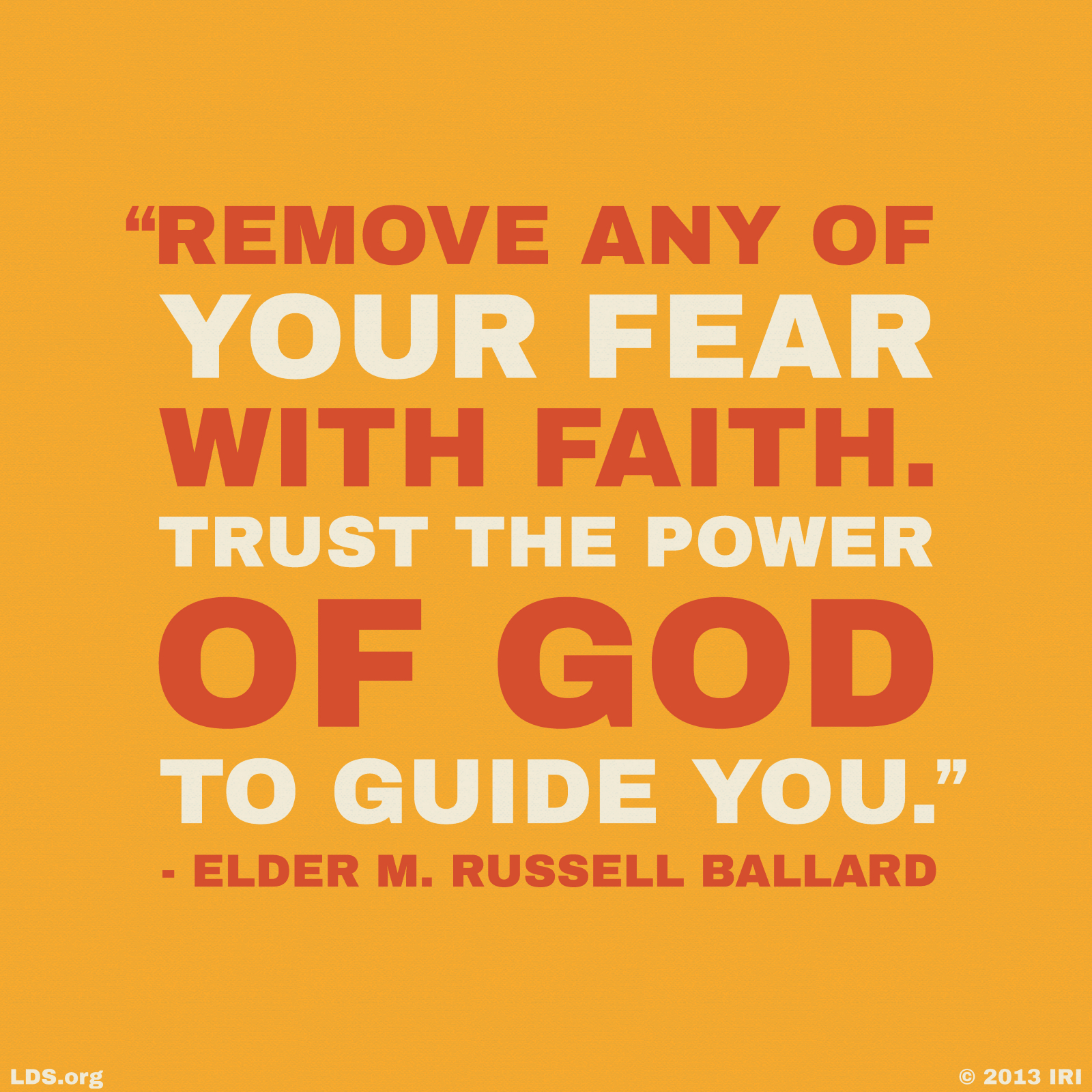 remove fear faith