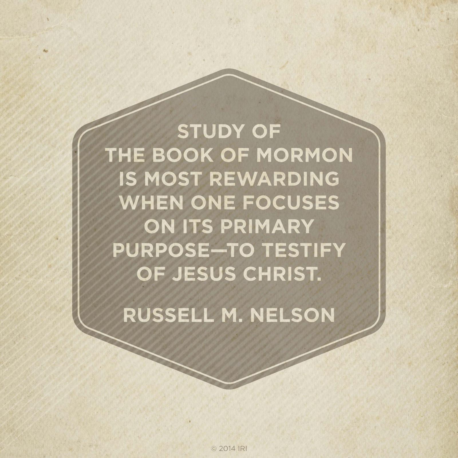 Inspirational Book Of Mormon Quotes: Primary Purpose