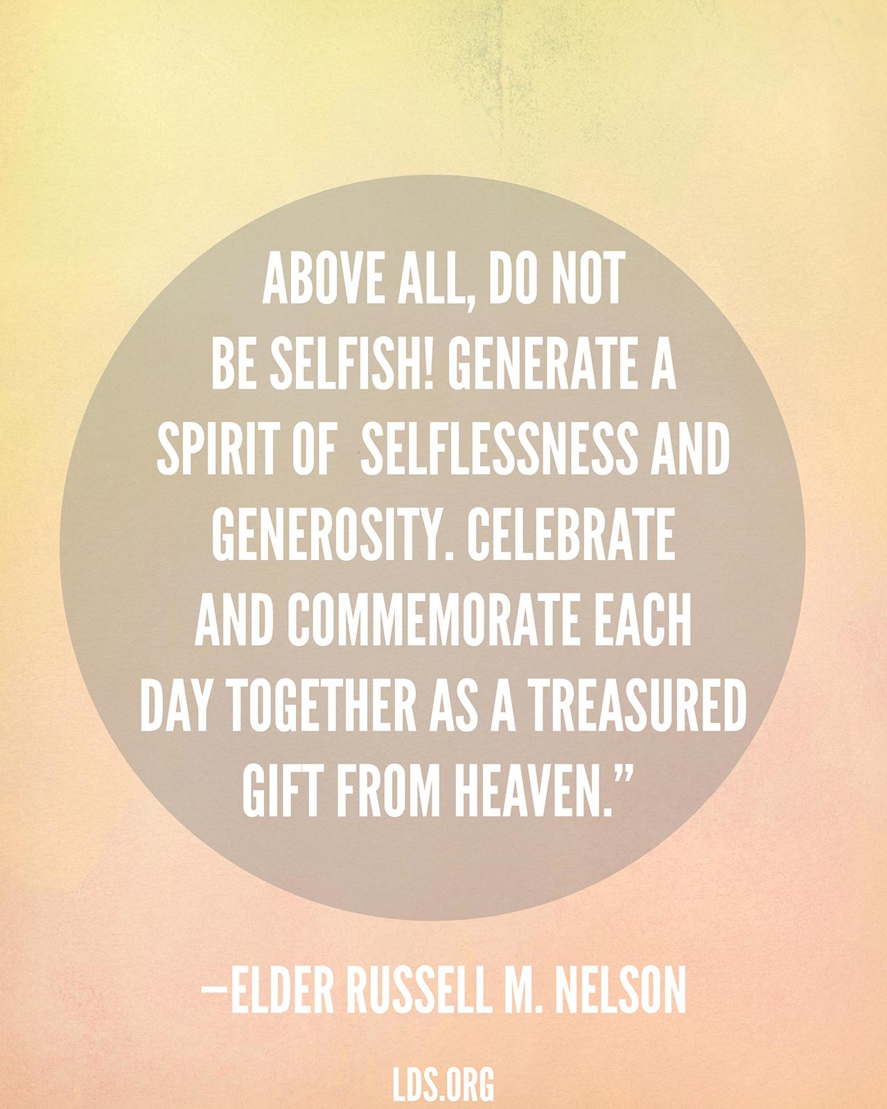 Spirit Of Selflessness