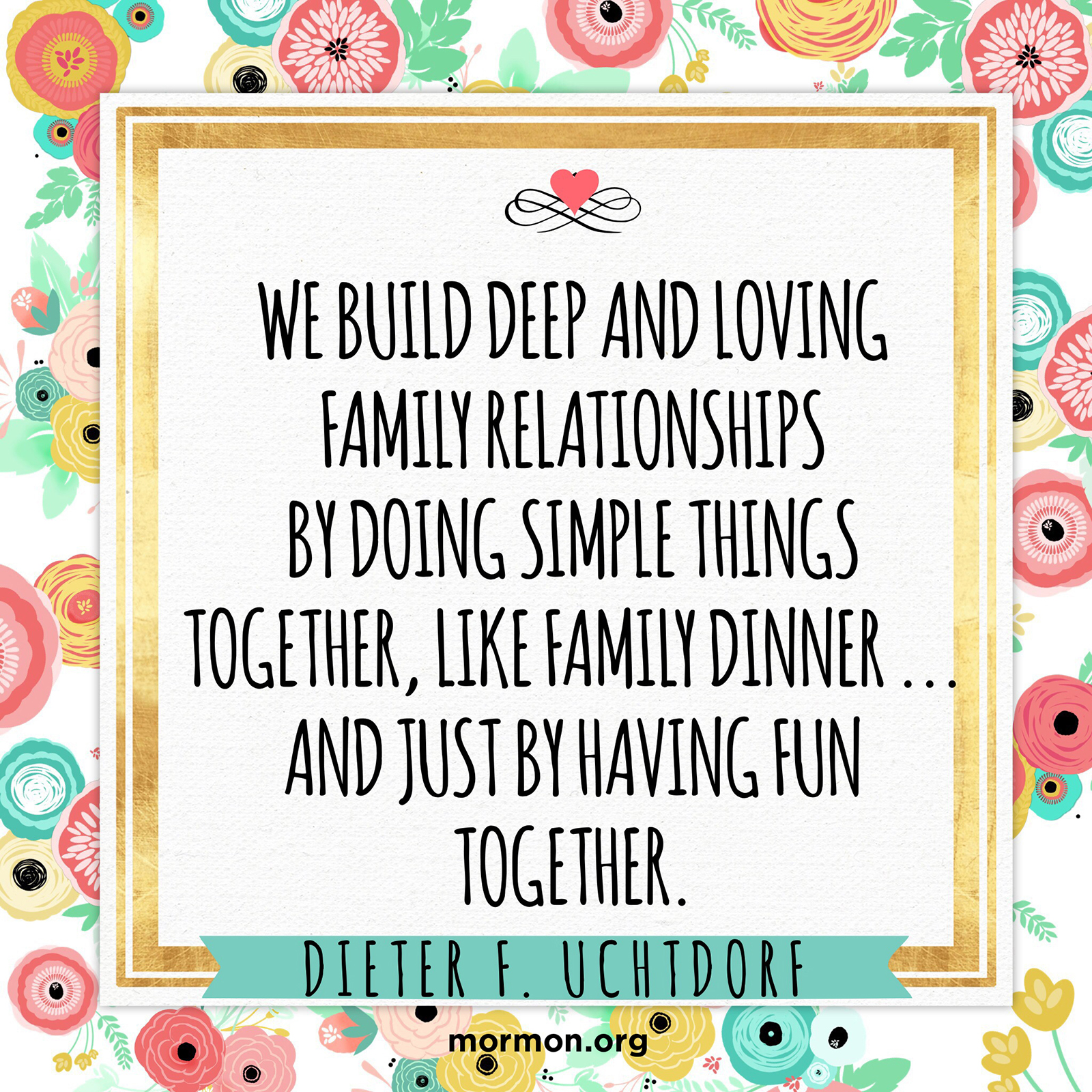 Building deep and loving relationships
