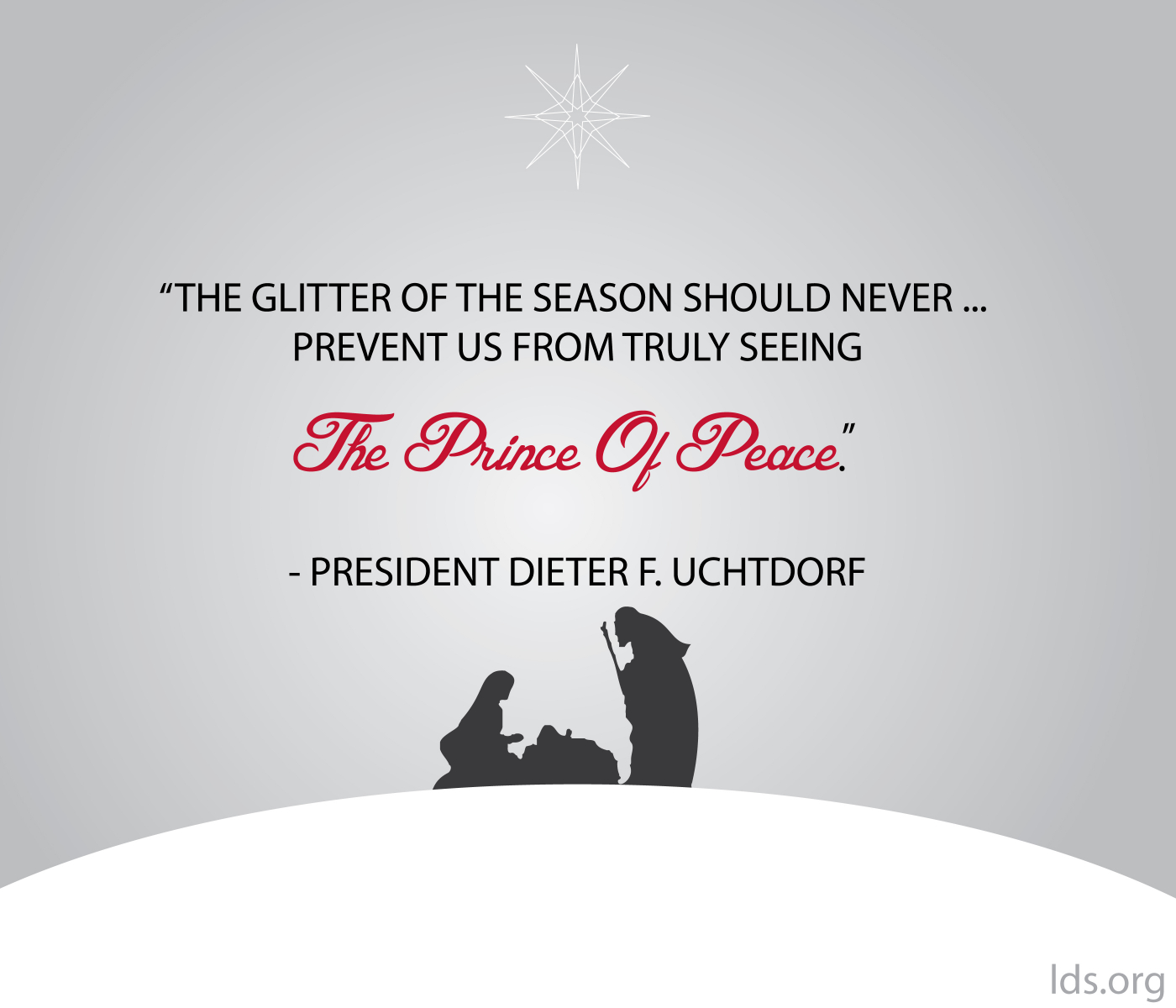 Lds Quotes On Peace: Seeing The Prince Of Peace