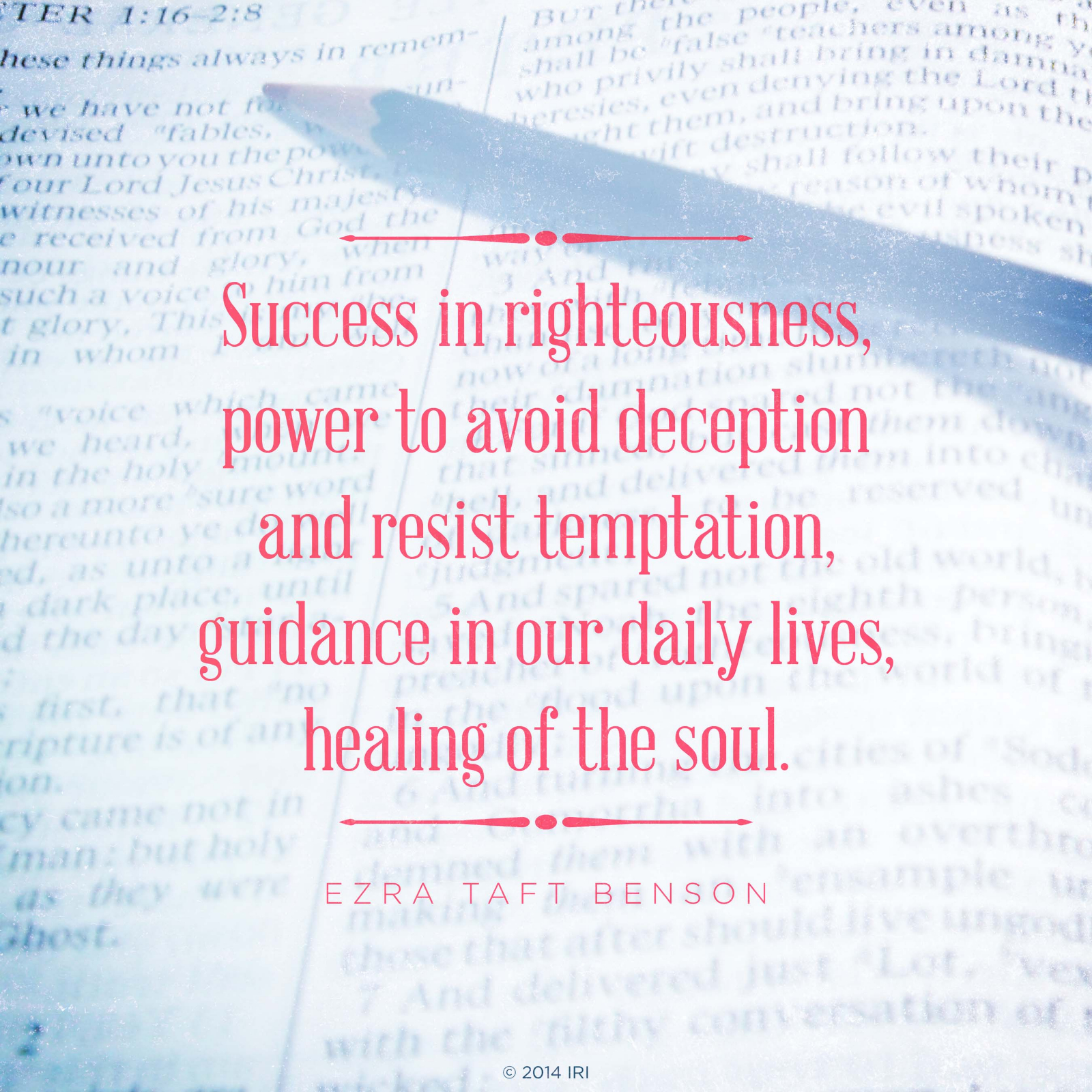 Success In Righteousness