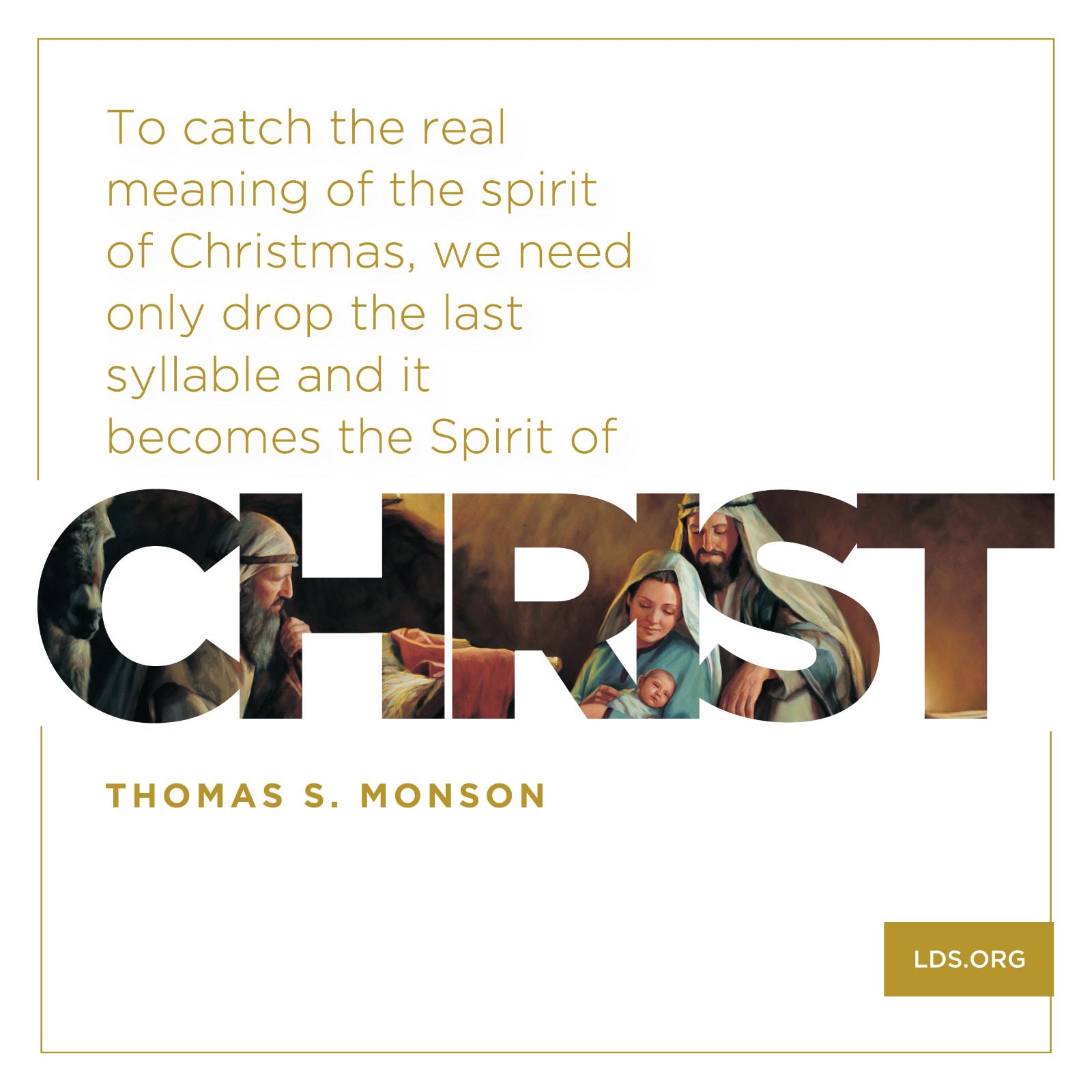 Merveilleux The Spirit Of Christ