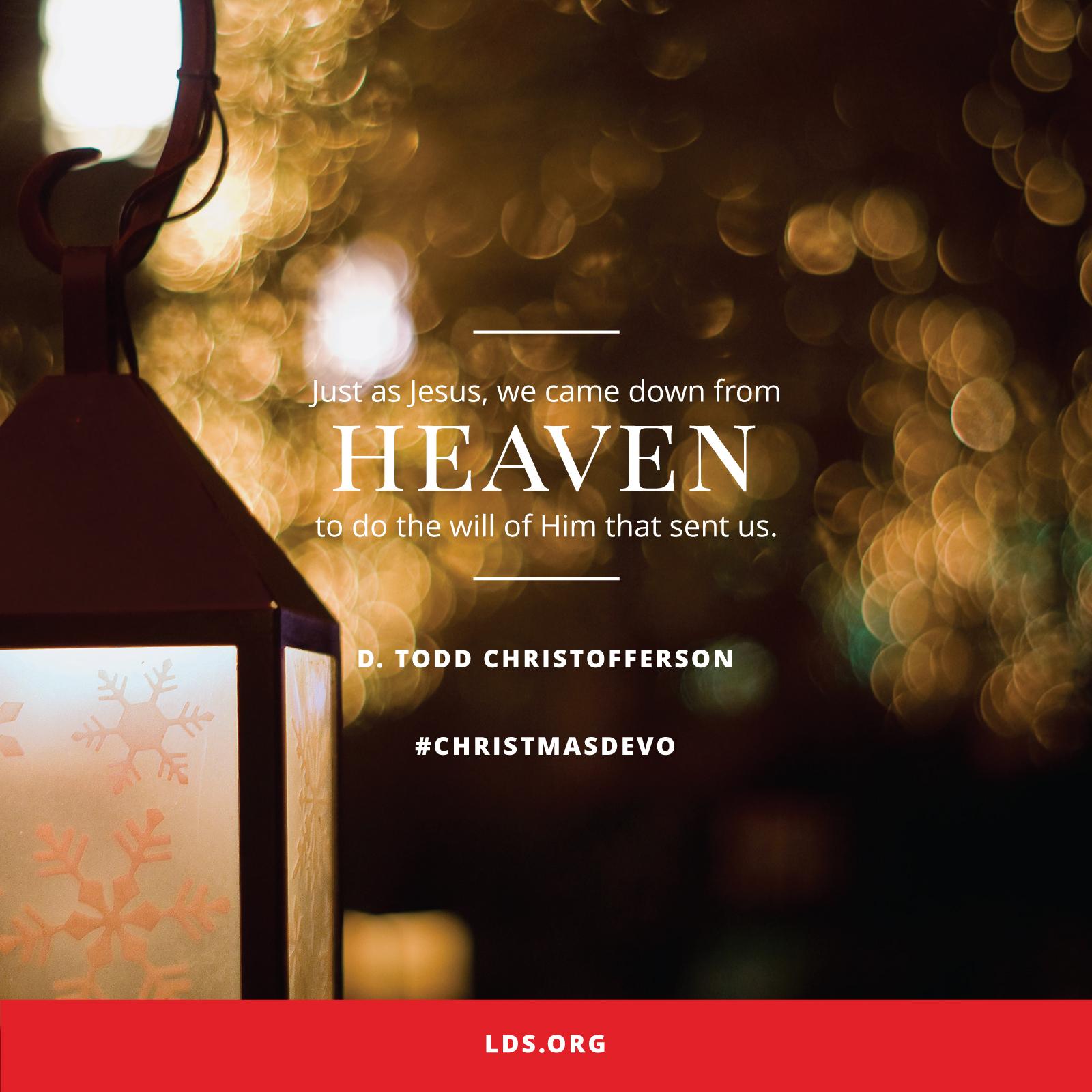 Christmas In Heaven Lantern.Down From Heaven