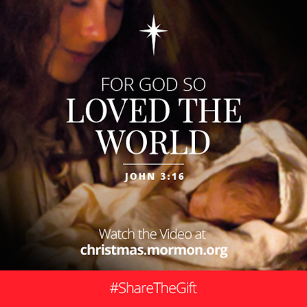 An image of Mary and baby Jesus combined with the text from John 3:16.