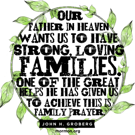Family prayer keeps families strong