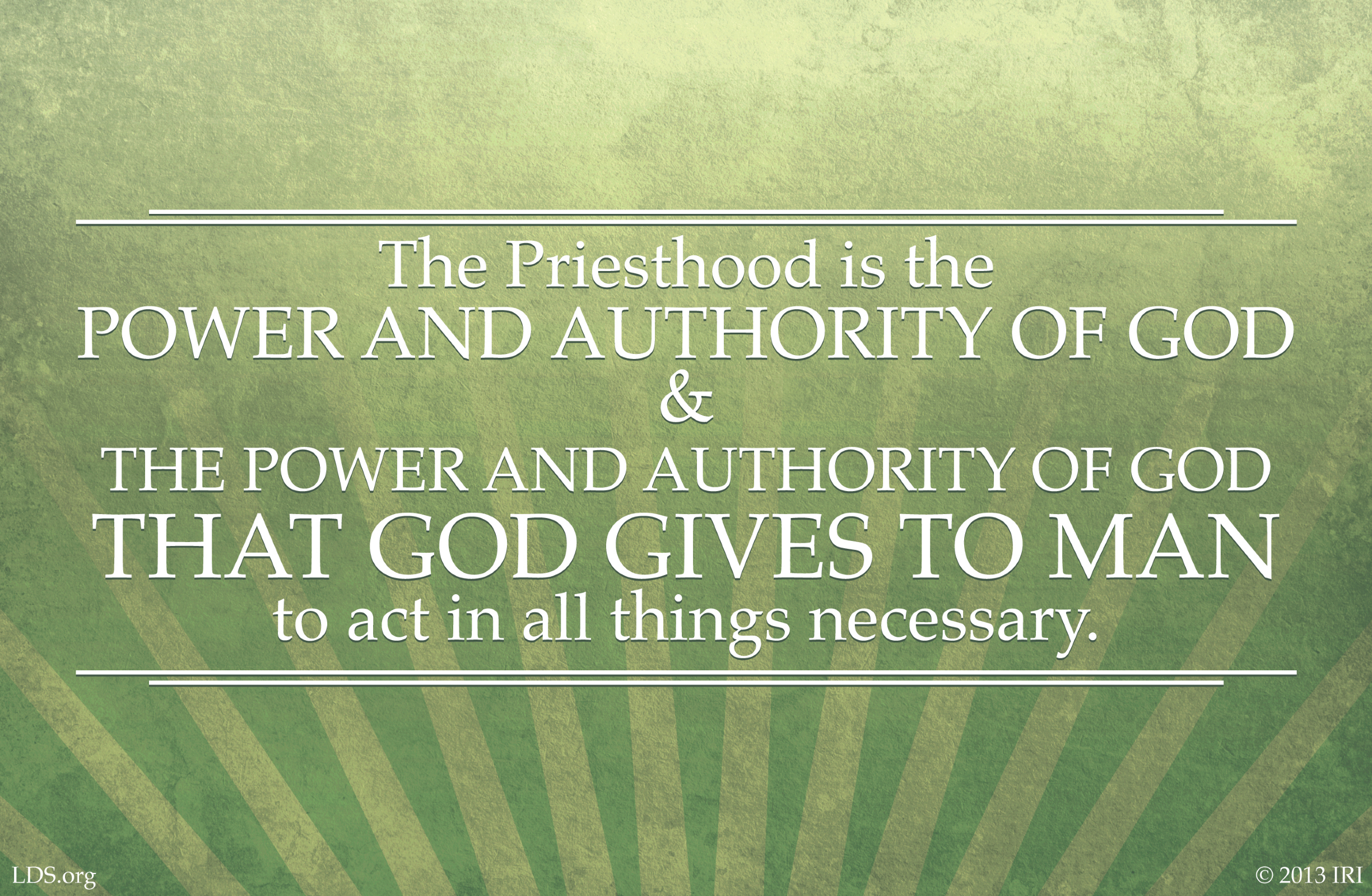 Power and Authority of God