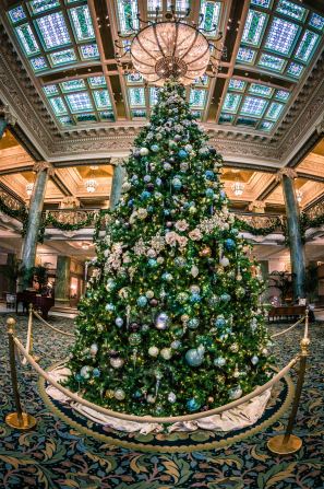 The Christmas tree in the Joseph Smith Memorial Building.