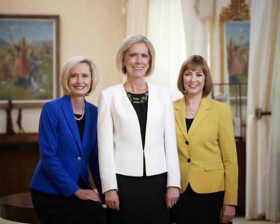 A formal group portrait of Bonnie H. Cordon, Joy D. Jones, and Cristina B. Franco.
