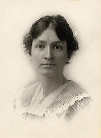 A black-and-white photograph of Lucy Grant Cannon.