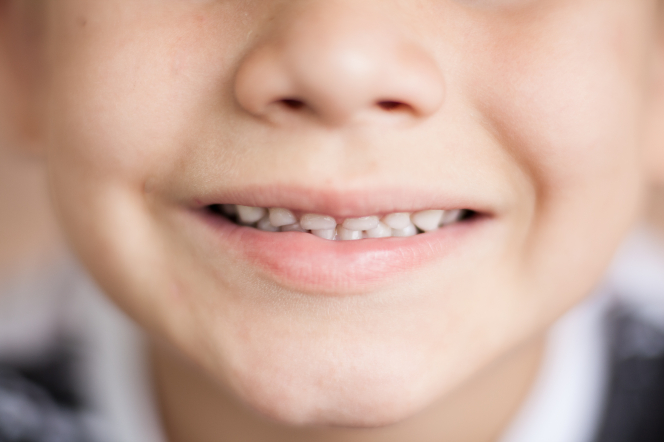 A child's mouth.