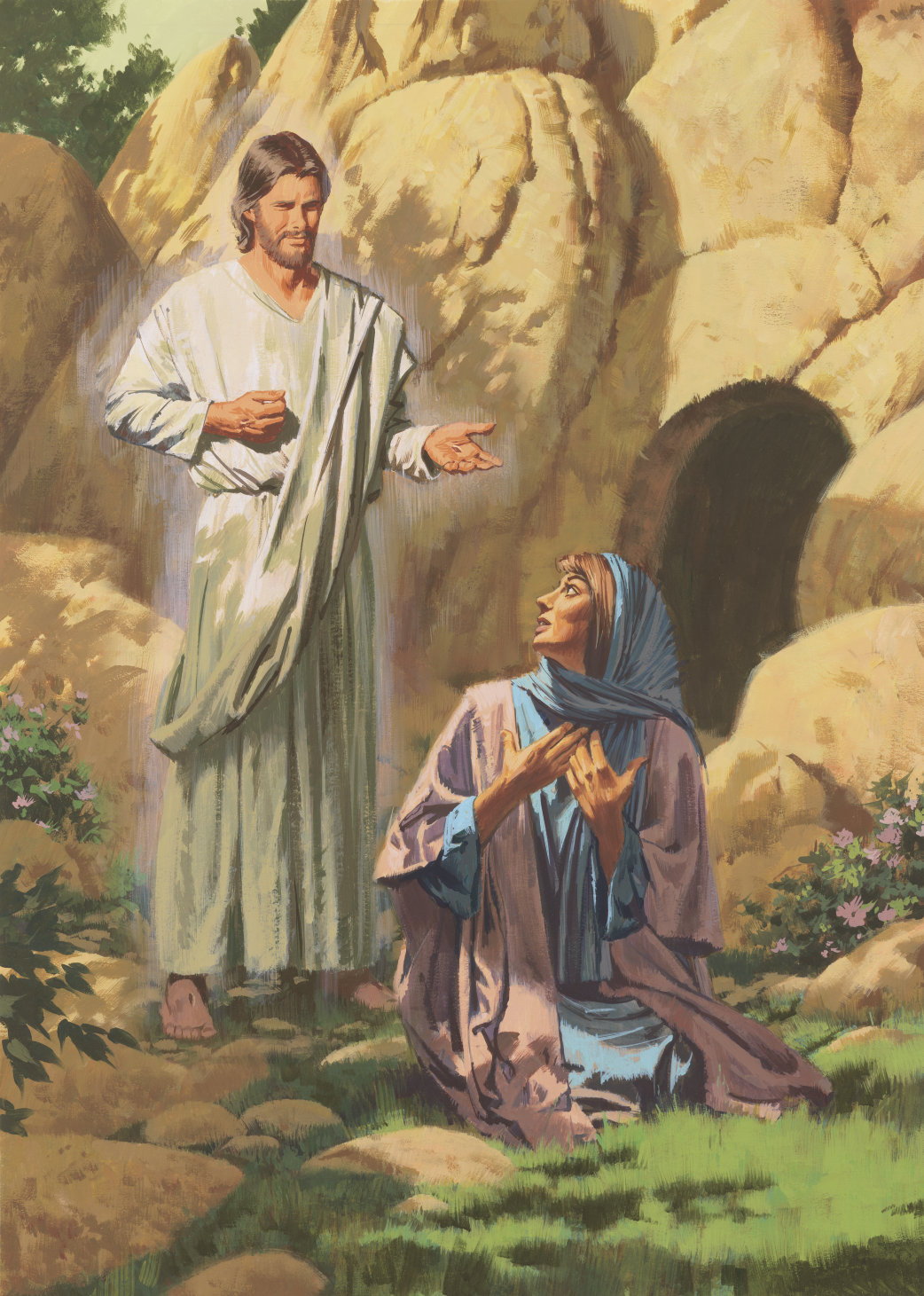 Image result for jesus and mary magdela at the tomb, art, pictures
