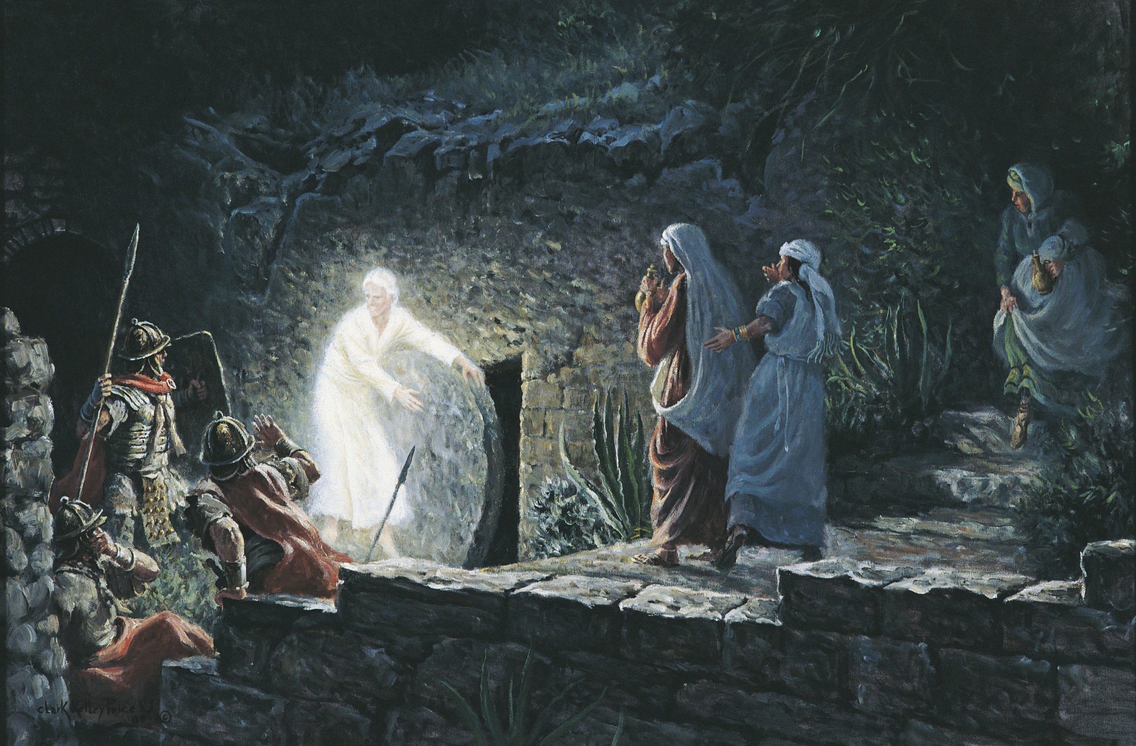 Image result for image of angel rolling back the stone from the tomb