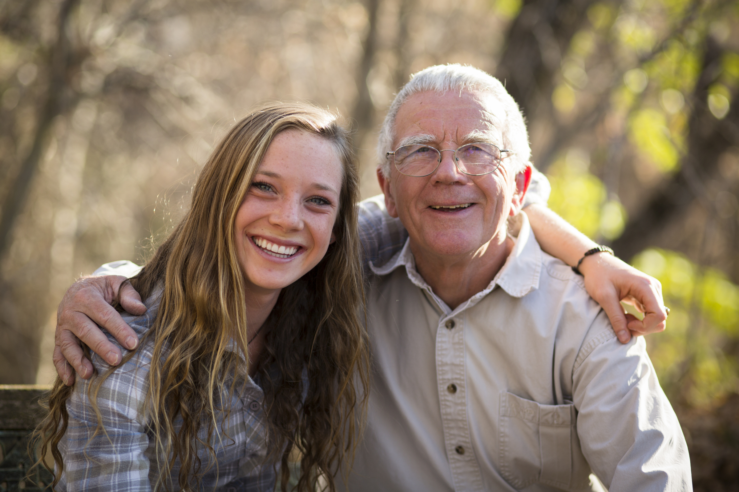 Grandfather And Granddaughter-9962