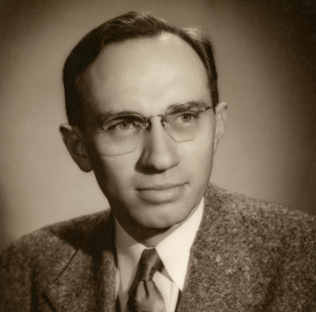 A sepia-toned headshot of Gordon B. Hinckley in a suit and tie.