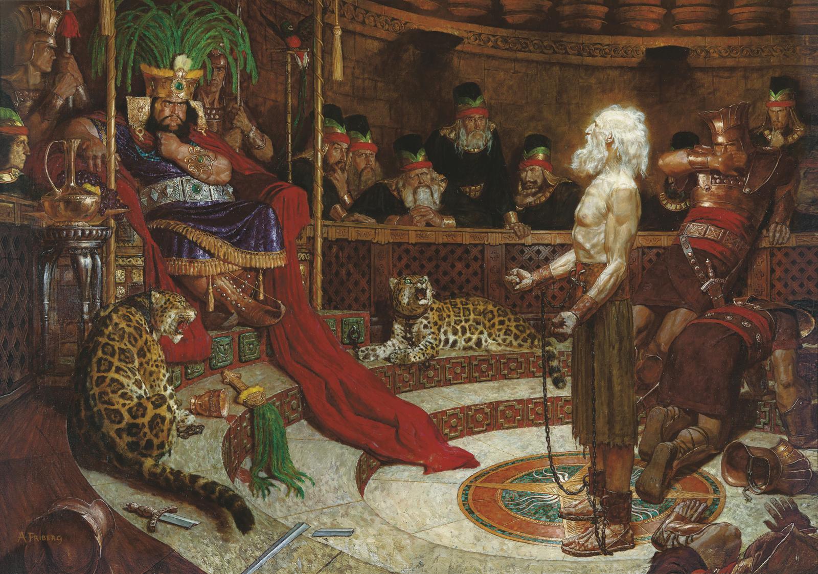 Abinadí ante el rey Noé (Abinadí aparece ante el rey Noé)