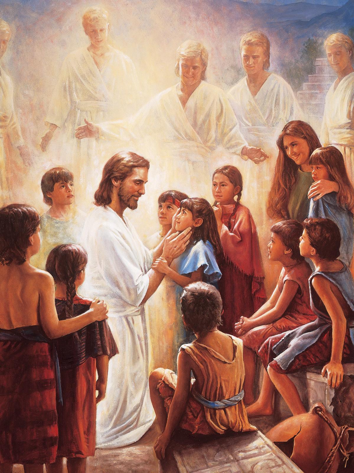 Christus En De Kinderen In Het Boek Van Mormon