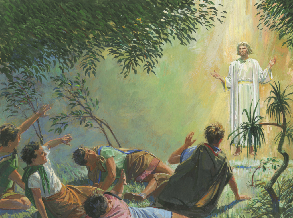 Angel Appears To Alma And The Sons Of Mosiah