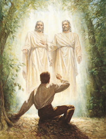 God the Father, His son Jesus Christ, and Joseph Smith