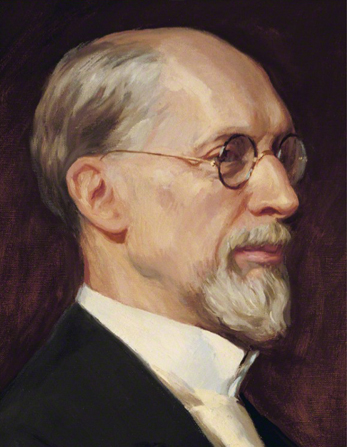 A painted portrait of the profile of George Albert Smith, by Lee Greene Richards.