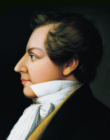 A portrait of Joseph Smith's profile by Danquart Anthon Weggeland.