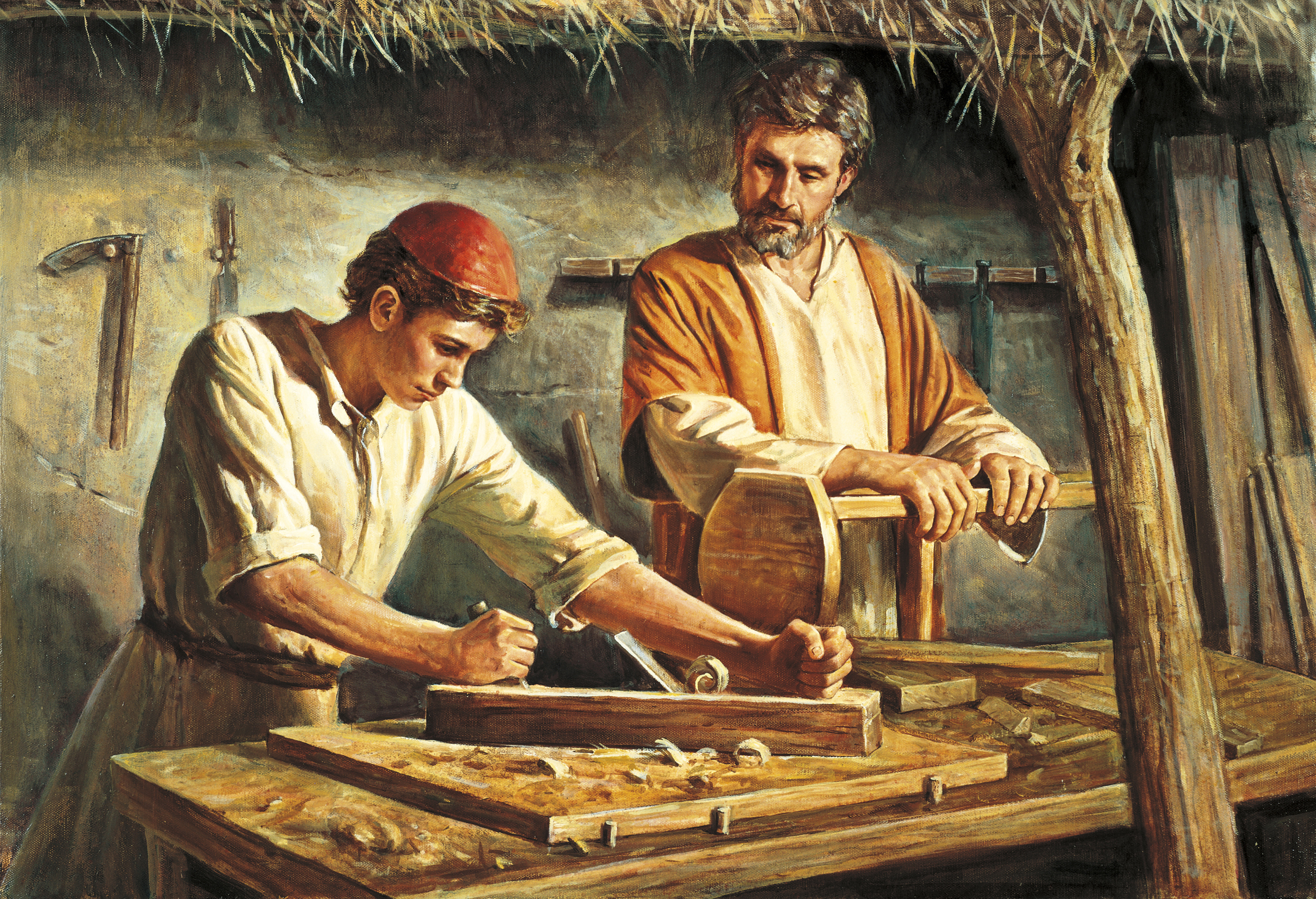 Image result for the carpenter's son, Jesus, art, pictures