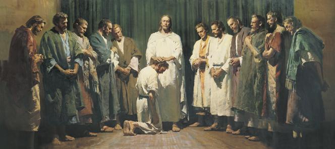 Jesus ordena a los apóstoles