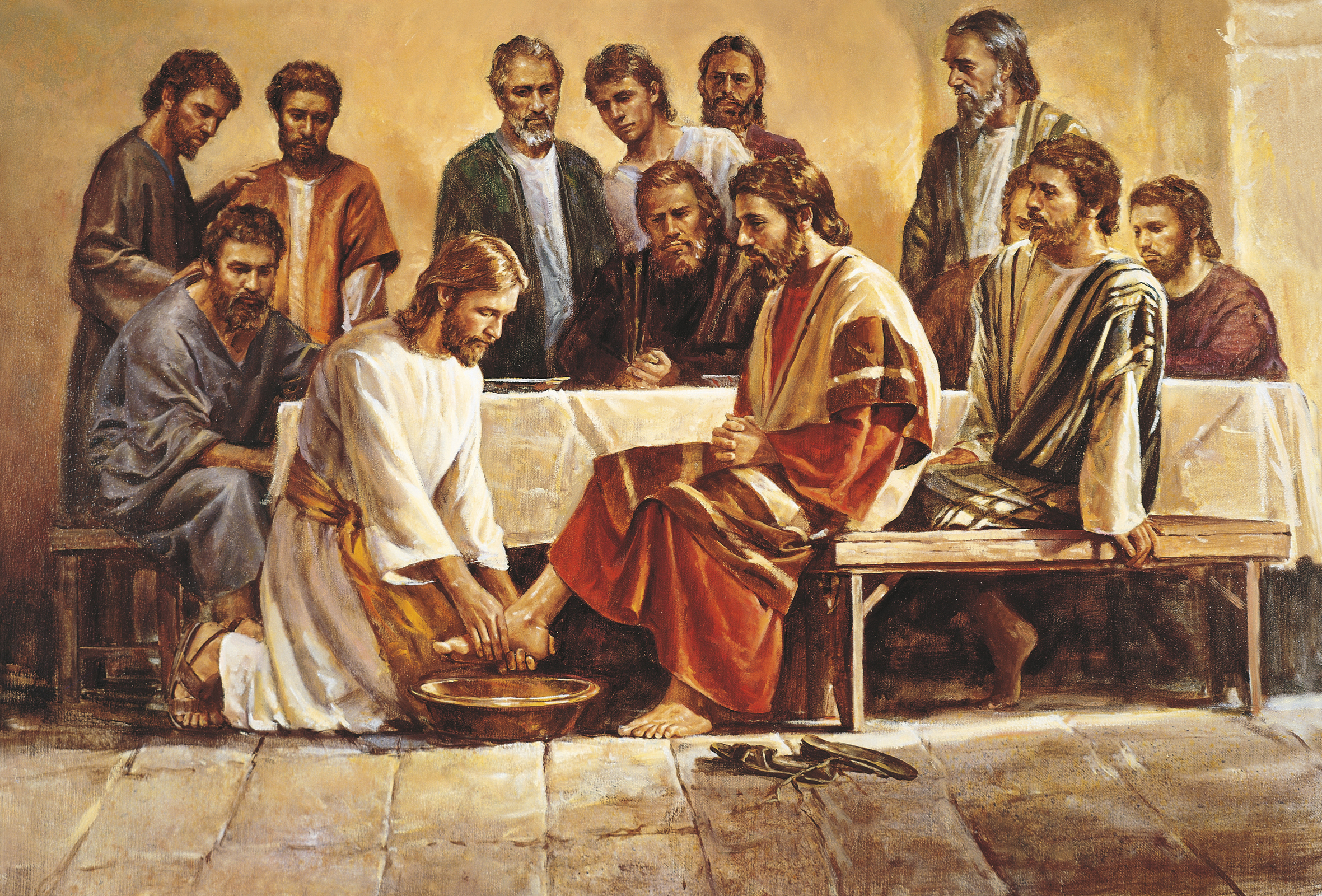 Jesus Washing the Apostles\' Feet (Jesus Washing the Feet of the ...