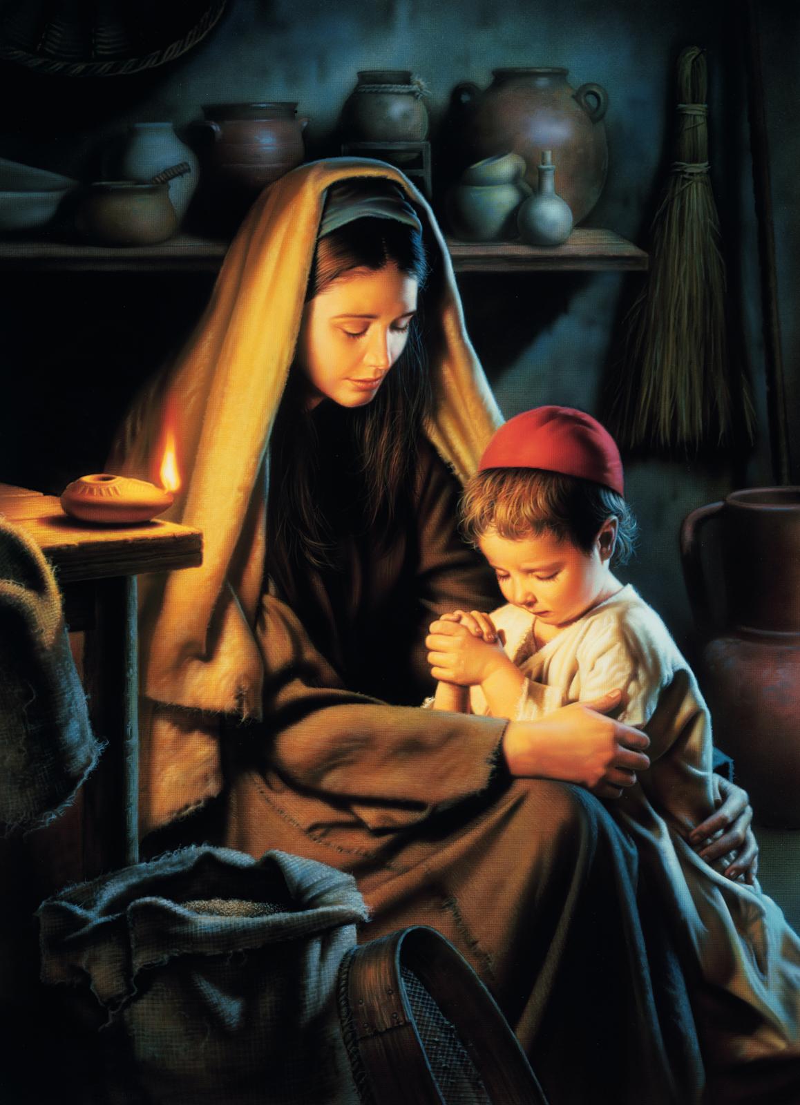 En gracia para con Dios (Jesucristo ora con su madre)