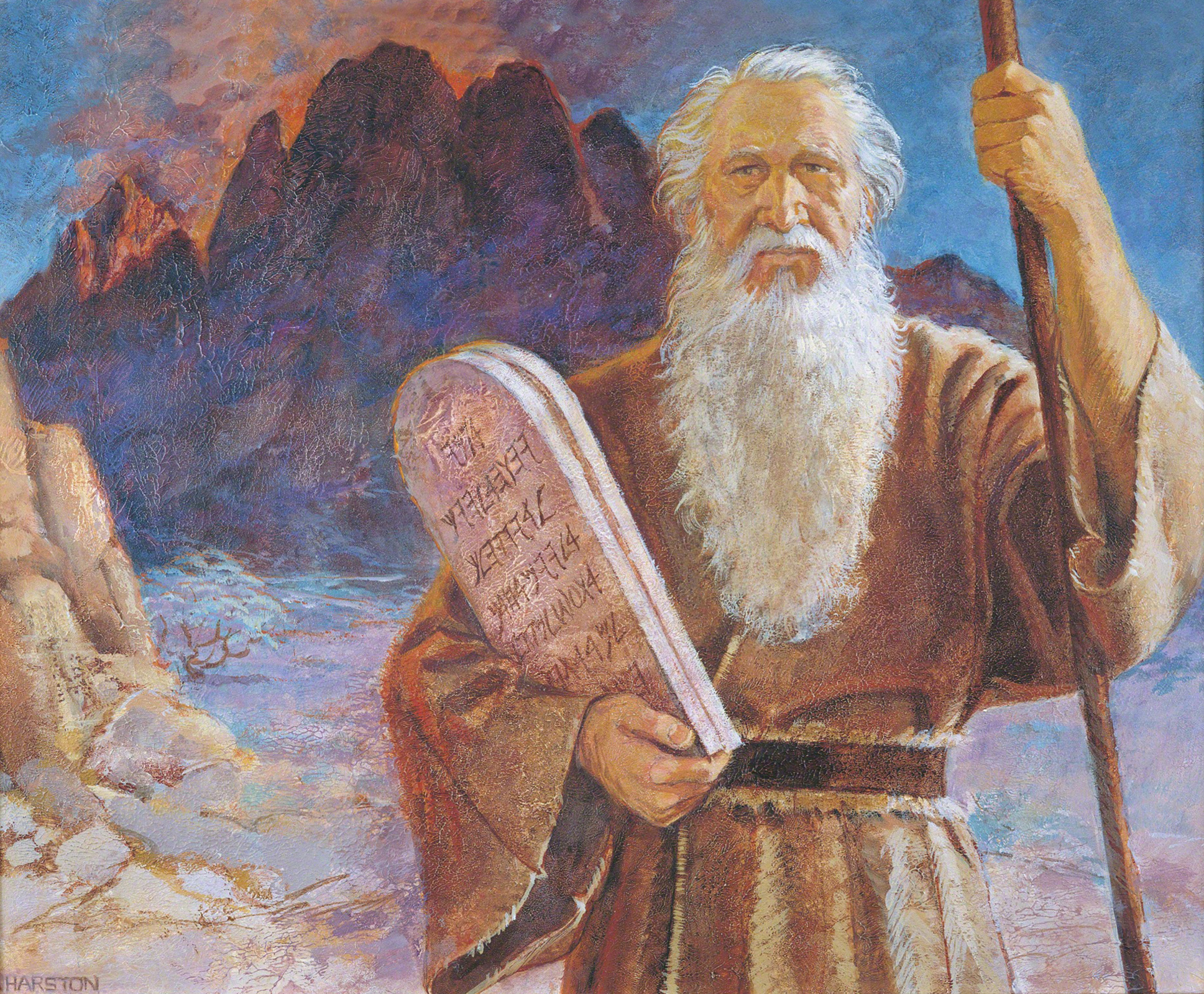 Image result for moses on Mt Sinai 10 Commandments images
