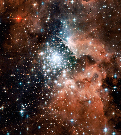 A massive young star cluster in the Carina spiral arm of the Milky Way.
