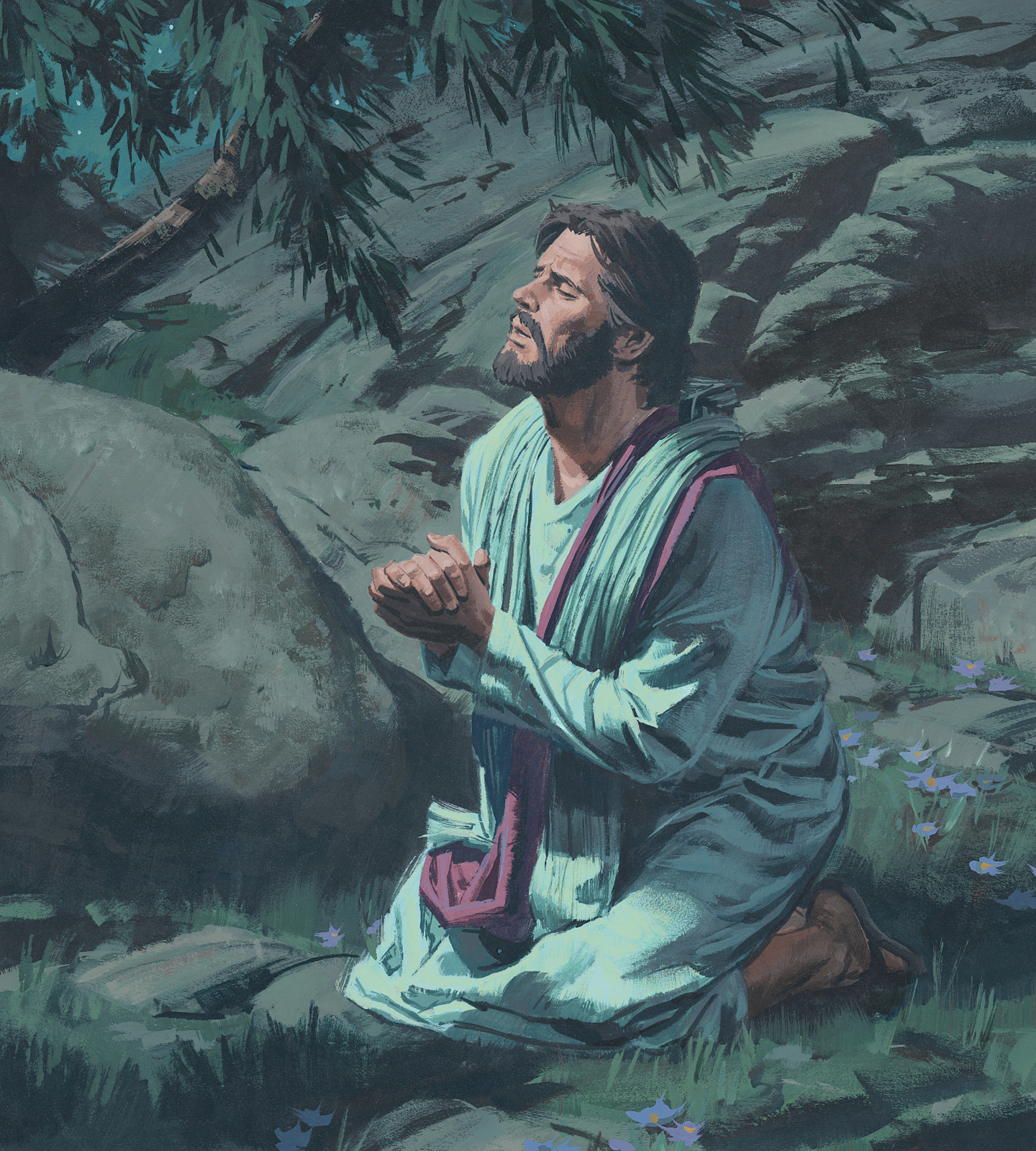 Jesus suffers in the garden of gethsemane Jesus praying in the garden of gethsemane