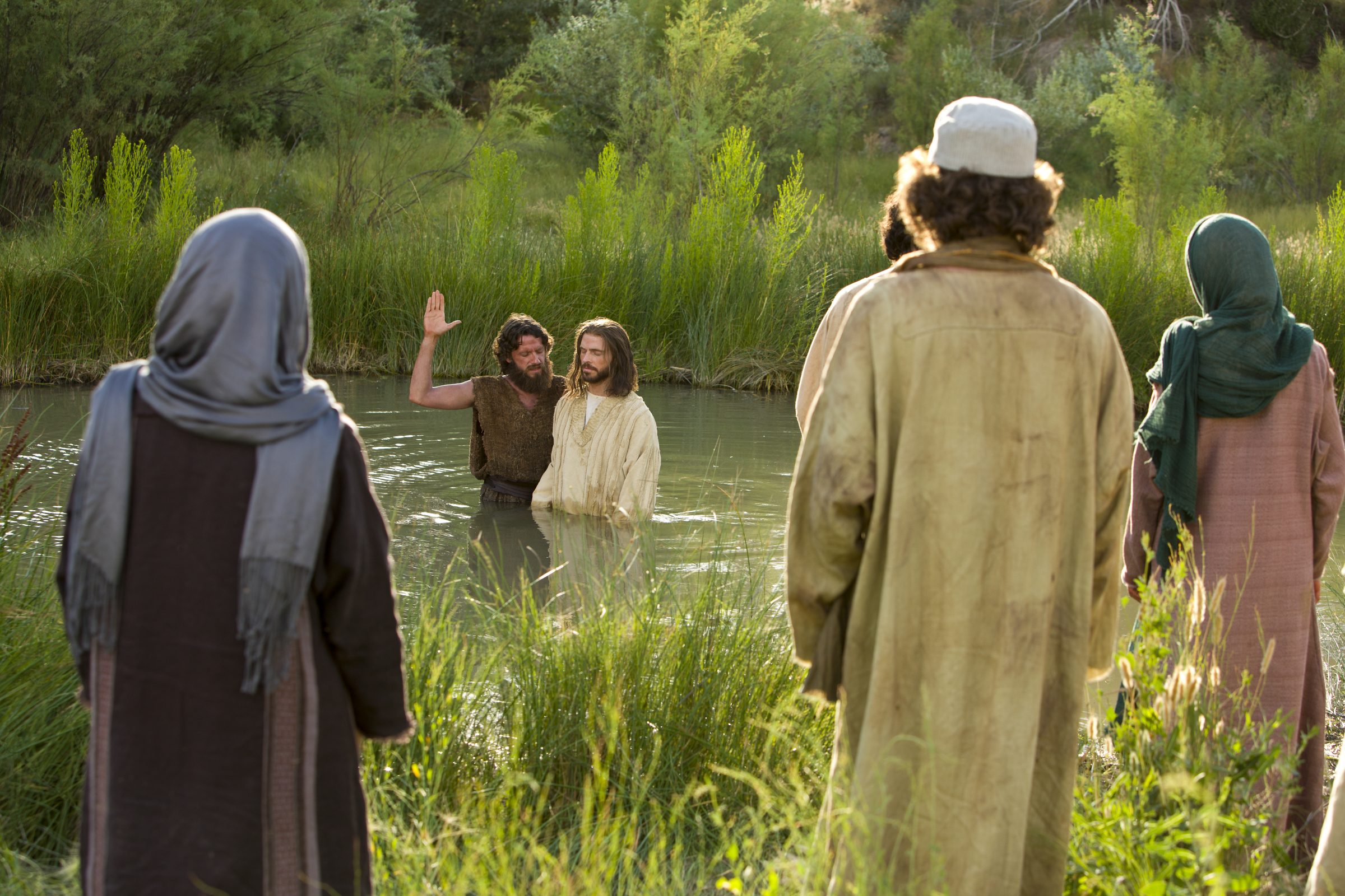 John the Baptist Baptizes Jesus Christ