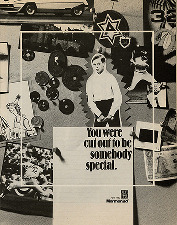 "A conceptual photograph showing various magazine clippings and the words ""You were cut out to be somebody special."""