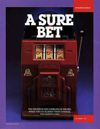 "An image of a slot machine with the word ""Loser"" shown in the three slots, paired with the words ""A Sure Bet."""