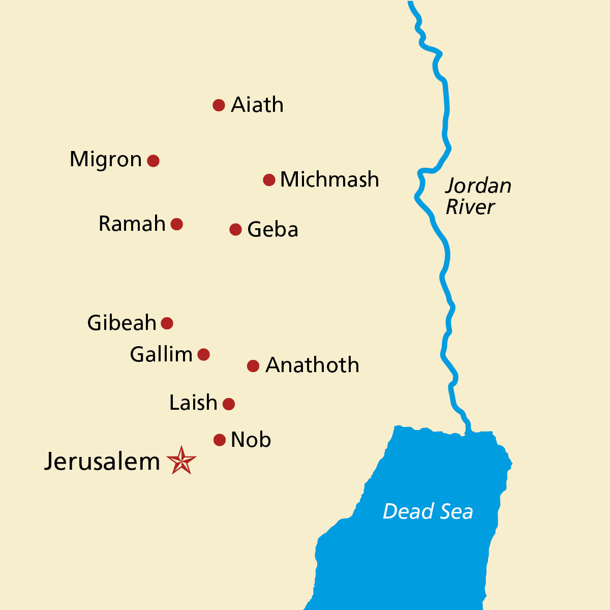 Map Of The Holy Land - World map jordan river