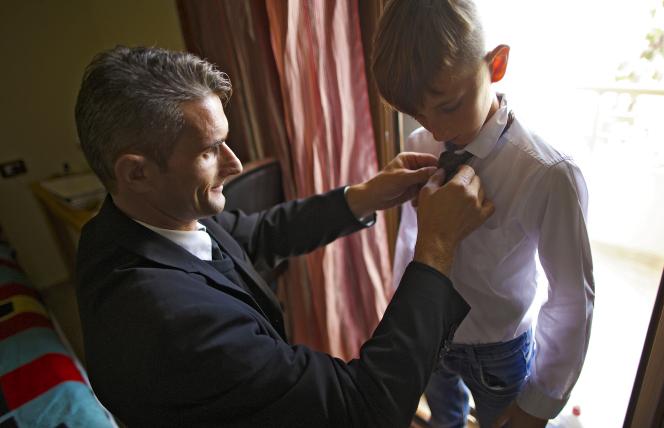 Ilir Dodaj with son