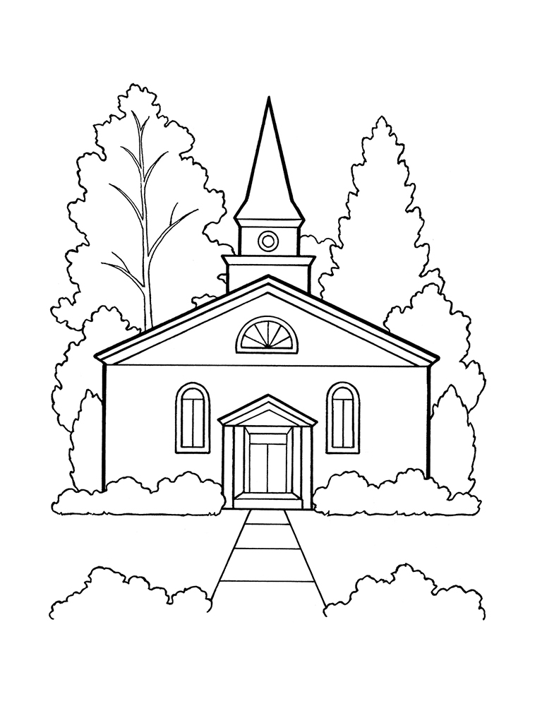 Lds Coloring Pages Church Building