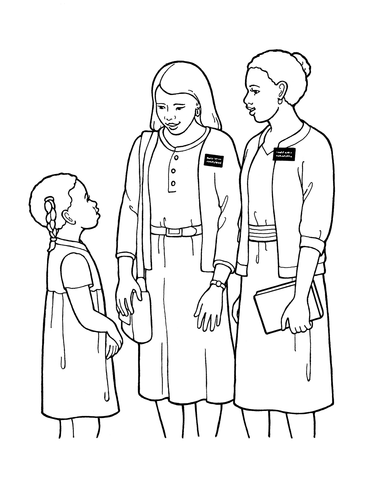 missionaries coloring pages - photo#7