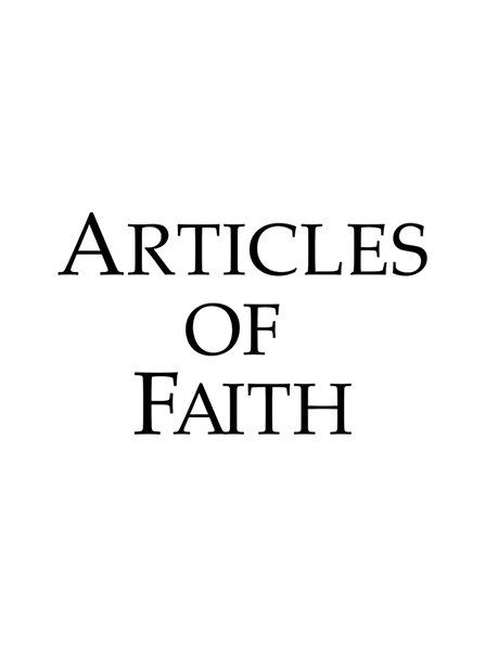 "The words ""Articles of Faith"" in black text on a white background."