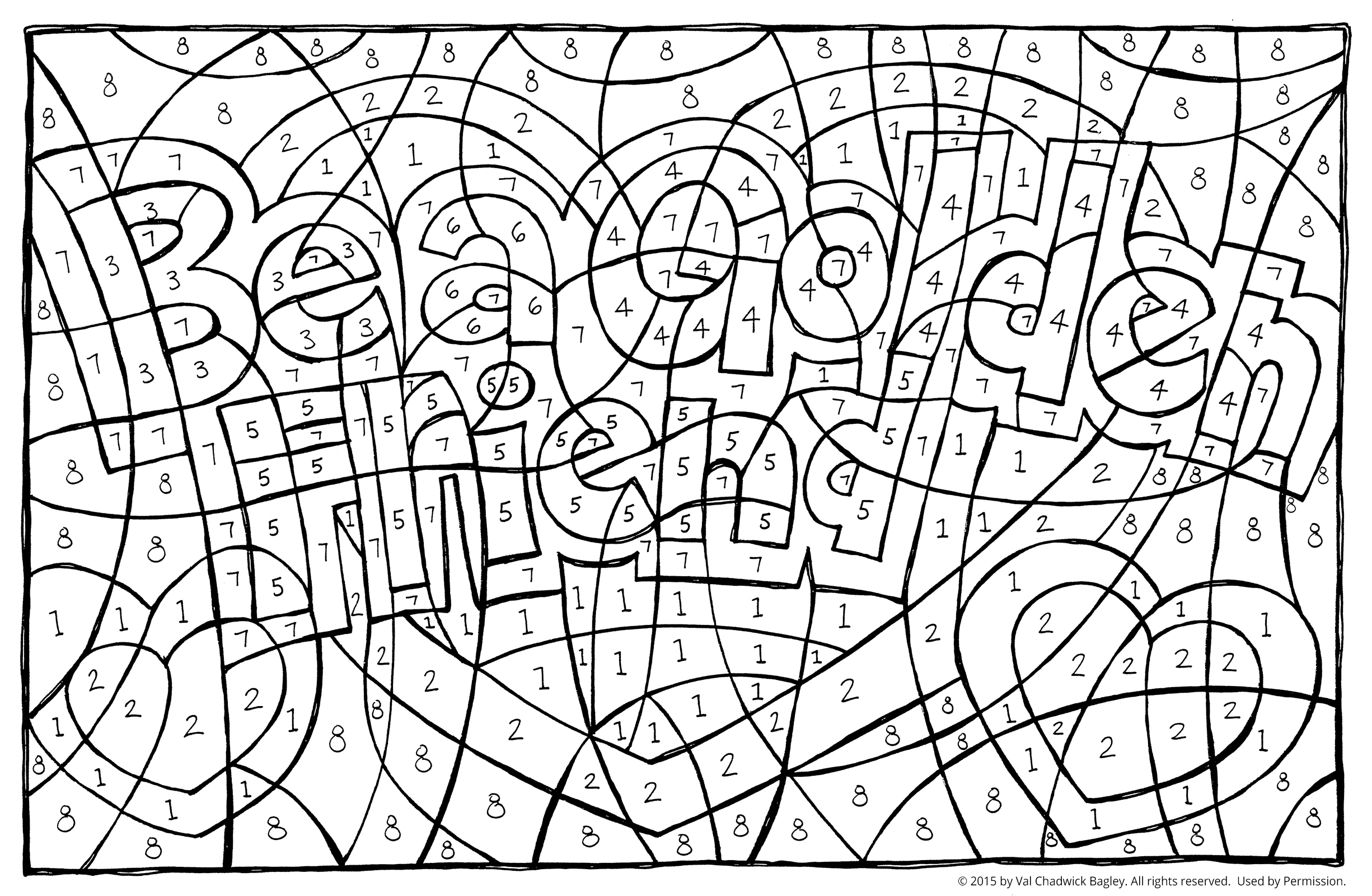 find the hidden message - Friendship Coloring Pages