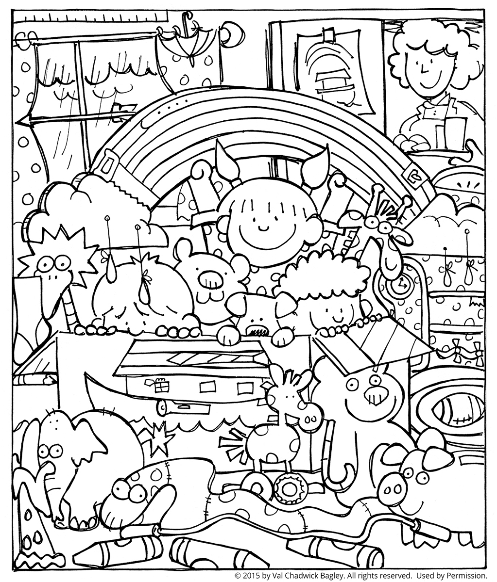 noah and the ark coloring page - Coloring Page For Toddlers