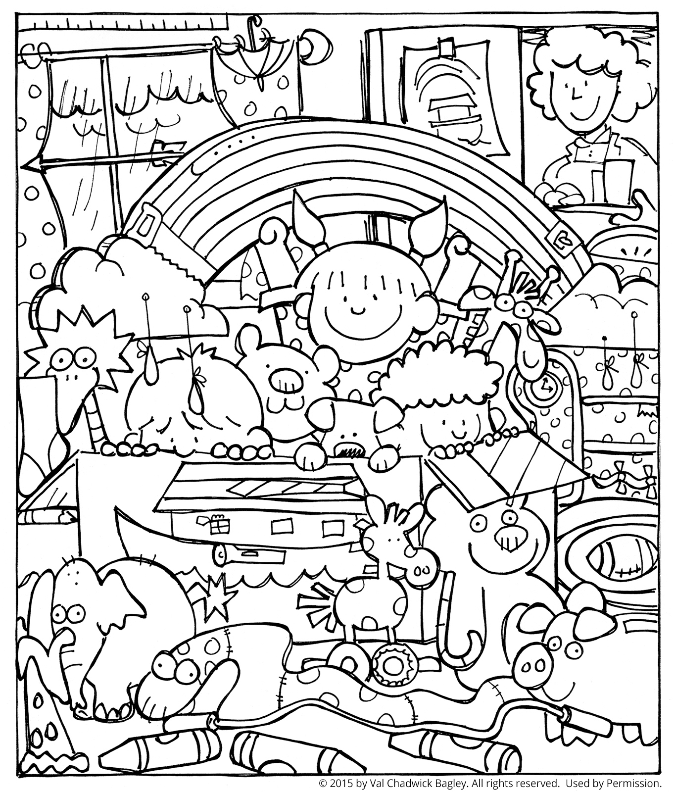 Noah and the Ark Coloring Page
