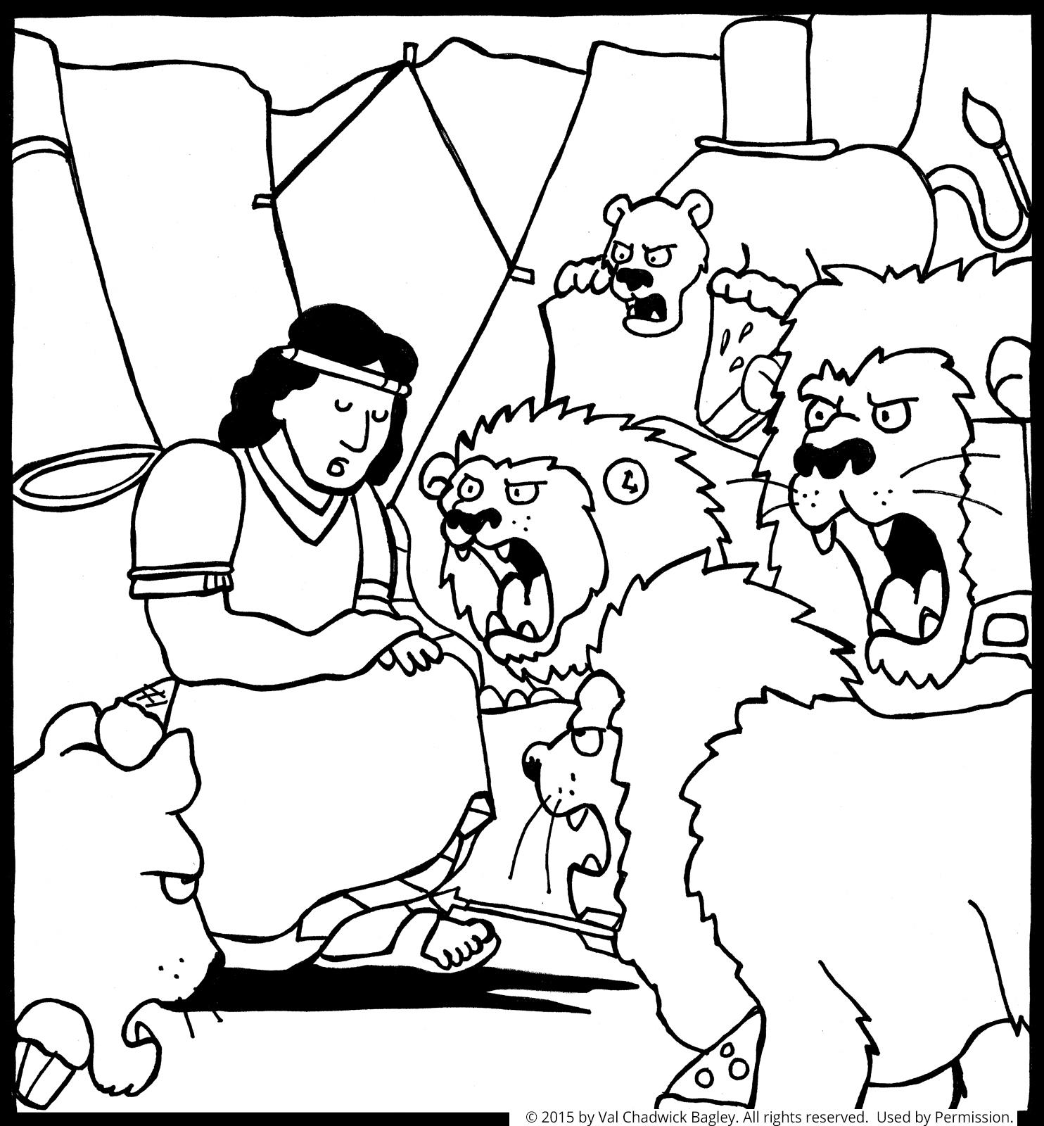 daniel lions den coloring pages - photo#10