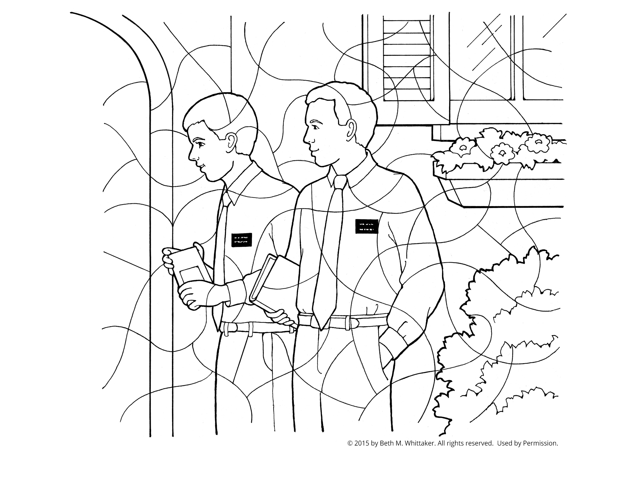 Lds Coloring Pages Missionaries
