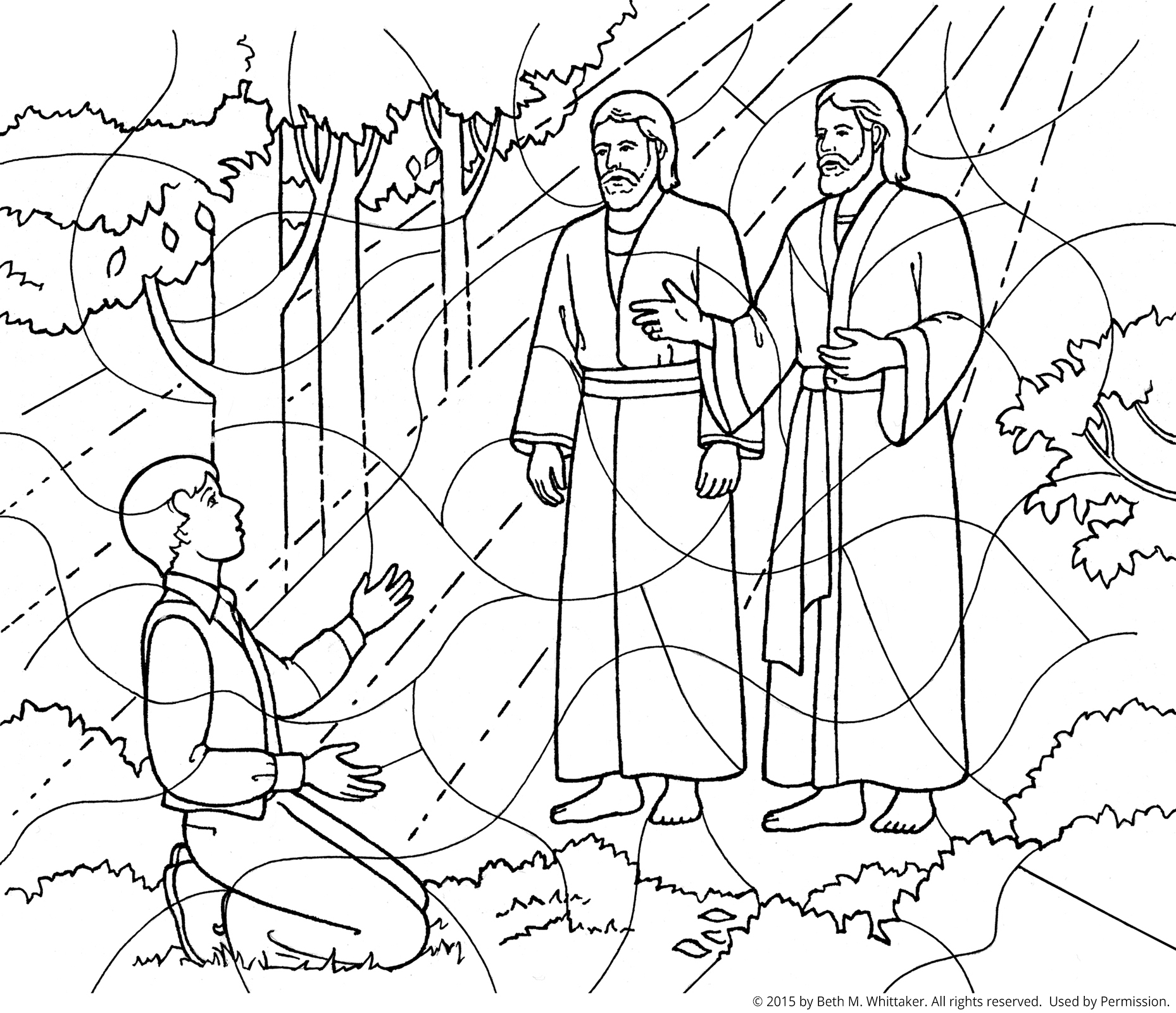 First vision coloring page for First vision coloring page