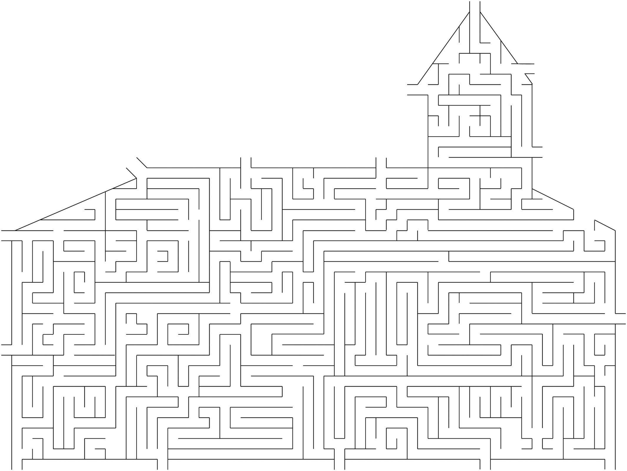 a church maze