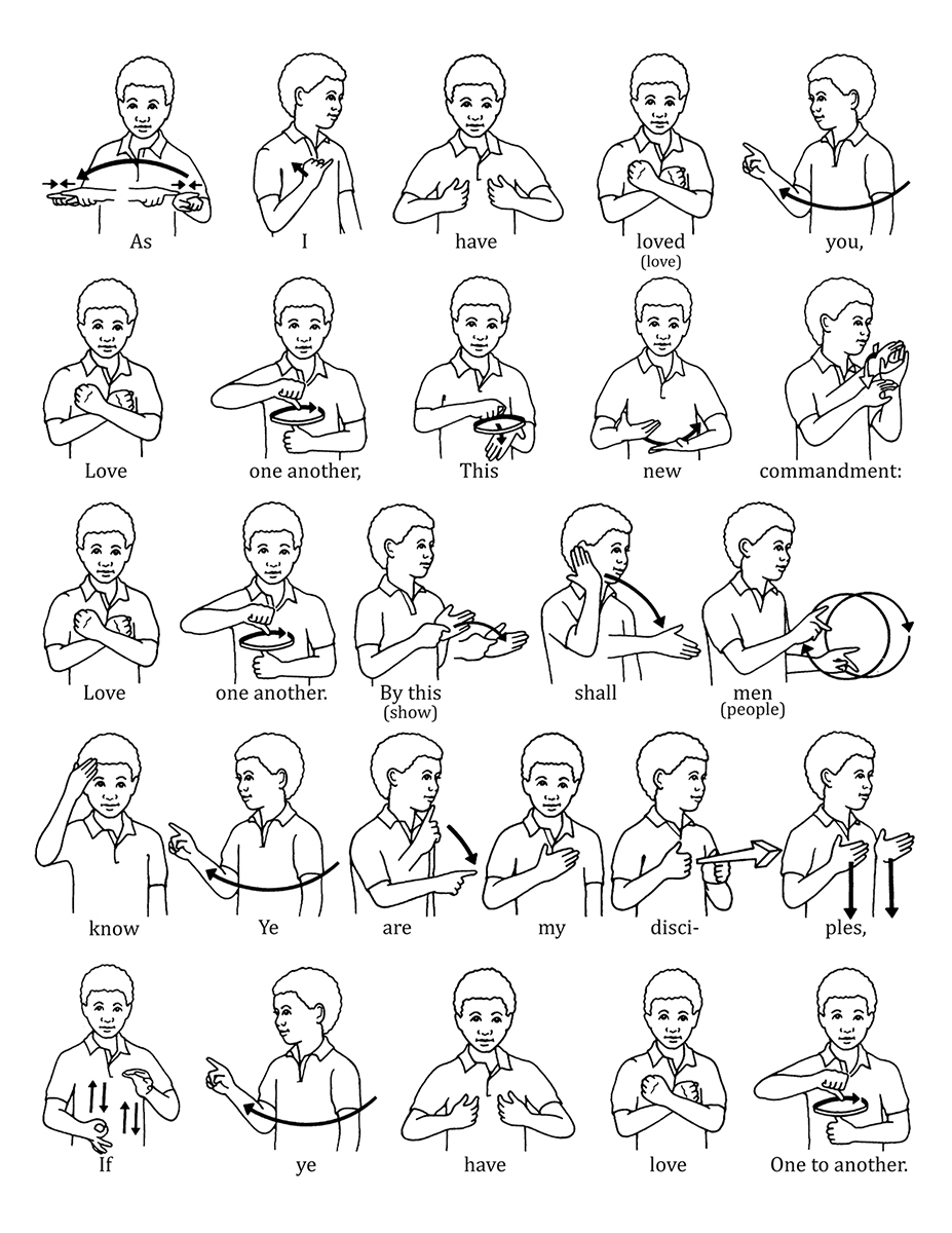 How to sign language words