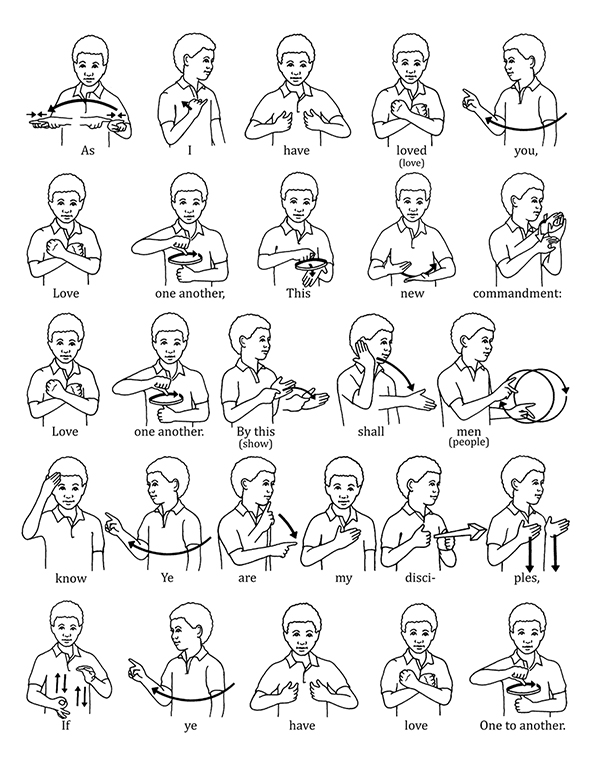 """Sign Language for """"Love One Another"""""""