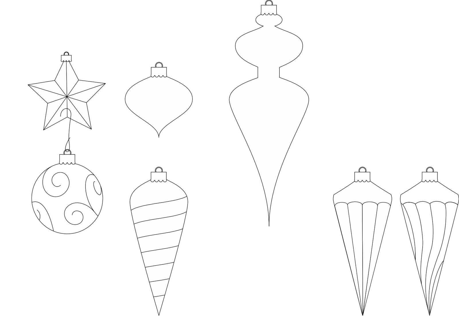 Drawings Of Christmas Decorations.Ornaments